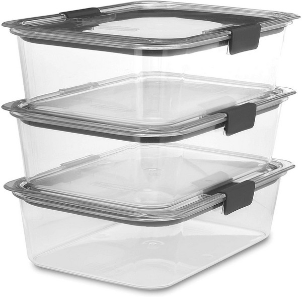 Rubbermaid Brilliance Food Storage Container, Large, 9.6 Cup, Clear, 3 Pack - $23.45 - plusnet24.com